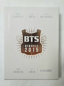 BTS BANGTAN Memories of 2015 Official 4 DVD Photobook Full Set