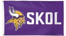 New listing Minnesota Vikings Skol Nfl Logo 3x5 Flag Banner W/ Grommets Free Shipping