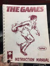 Mylstar THE GAMES Arcade Video Game Manual - good used original