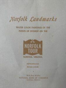 (7) Vintage Norfolk Landmarks Tour Prints Kenneth Harris 1962 w/ Folder