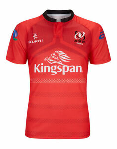 Ulster Rugby Shirt Jersey Men's Kukri Rugby 2018-19 Euro Shirt - Red - New