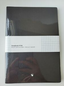 SEALED Montblanc Stationary Notebook, Tobacco,#146, Squared, Silver Cut, #113638