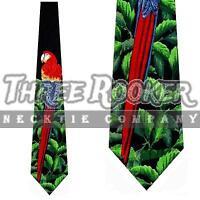 Parrot Tie Macaw Neckties Mens Animal Bird Neck Ties NWT