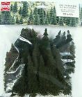 HO / N scale Busch # 6476 TWENTY PINE / FIR TREES with Root Bases