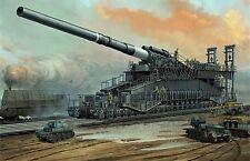 Impresión enmarcado-carril de pistola gigante Hitler (Schwerer Gustav cañón Arte de imágenes Segunda Guerra Mundial)