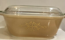 """Vtg-Pyrex Agee""""Golden Vector""""CS300 Square Casserole With Lid in Spice 1964 HTF"""