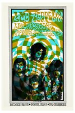 Heavy Metal: Led Zeppelin at U.C. Irvine Psychedelic Concert Poster 1969 12x18