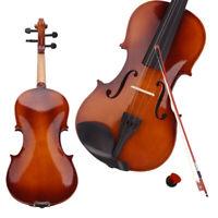 New 4/4 Natural Acoustic Violin Set + Case+ Bow + Rosin