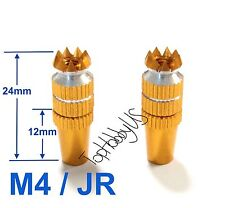 1Set M4 Yellow JR XG6 XG8 XG11 XG14 / DX7 TX Gimbal Sticks TH016-03001F
