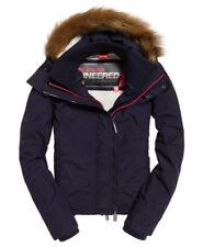Womens Superdry Hooded Fur Sherpa Wind Attacker Jacket Coat rrp £90