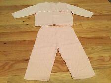 Vintage Gymboree Baby Girl Pink Light Sweater Set: Top & Pants SZ 6-12 M