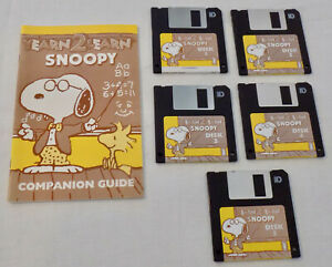 Yearn 2 Learn Snoopy Games Macintosh Floppy Discs Vintage Computer