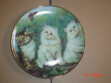 Lovely Franklin Mint Collectors Plate MEADOW TRIO Cat Kitten