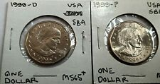 1999 P & D Susan B Anthony one dollar $1 uncirculated coin(s)