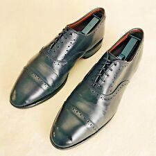 """Allen Edmonds 9 """"Hale"""" Black Cap Toe Dress Shoes Brogue Oxfords - Size 9 D"""