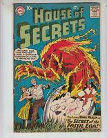 """House of Secrets 27 VG+ (4.5) 12/59 Mark Merlin in """"Secret of the Fossil Egg!"""""""