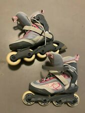 K2 Athena Us Breast Cancer Ribbon Inline Skates Roller Blades Size 8