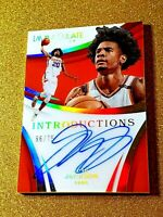 2017-18 JOSH JACKSON Immaculate Introductions /75 On Card Autograph RC Auto