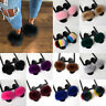 Women's Real Fur Flat Shoes Fluffy Flip Flop Slippers Sliders Sandals Xmas Gifts