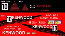 #10 Kenwood Porsche 956 / 962 1/64th HO Scale Slot Car Decals Group c