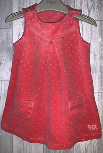 Girls Age 9-12 Months - John Rocha Soft Velour Pinafore Dress