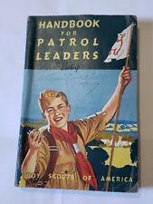 Boy Scout 1961 Patrol Leaders Handbook Vintage