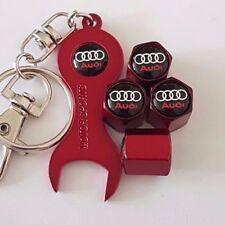 Polvere ROSSA AUDI TAPPI VALVOLE con chiave rosso/portachiavi per tutti i modelli tutti i colori