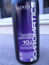Redken Chromatics Oil In Cream Developer 10 Volume  32 oz NEW!
