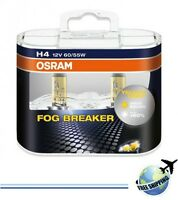 OSRAM H4 HB2 FOG BREAKER 62193FBRHCB 60/55W 12V P43T +60% Light 2 bulbs
