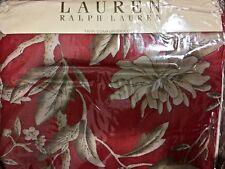 Nwt $472 Ralph Lauren 2pc Twin Duvet/Cover & Bedskirt Villa Camelia Cotton