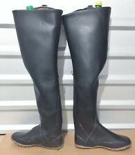 *Kohshin Gummi-Watstiefel Japan Black All Rubber Hip Waders Boots US11 EU44 UK10
