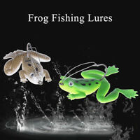 Lot 1Pcs Plastic Frog Fishing Lures ass Spinner Bait Weedless Hook Tackle_IJ