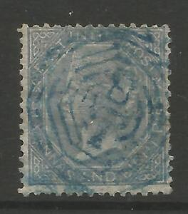 STAMPS-INDIA. 1867. 6a8p Slate. Centred to Top & Right. SG: 72. Fine Used.