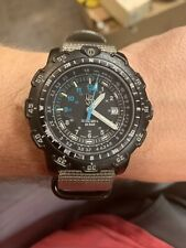 Luminox Force Recon 200m Series 8800 Quartz Black Blue Mens 45mm Watch