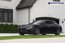 20x9 +35 20x11 +28 Rohana RC20 5x114 Machine Black Rims Fit Maserati Ghibli 2014