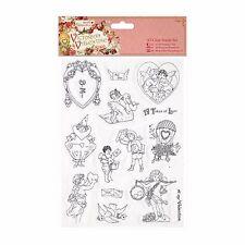 14Pc A5 Papermania Victoriana Valentín transparente conjunto de sello de goma Corazones Etc | C19