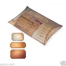 Sizzix Movers & Shapers L Die Taglio Cuscino Box con etichette 658268 USA BIG SHOT