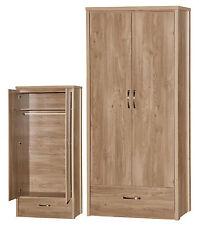 Holland Oak 2 Door Wardrobe - Modern Design - Part of Large Range