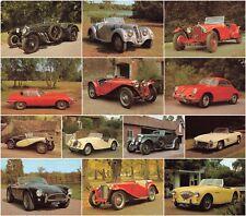More details for car postcards - 13 cards vintage cars j arthur dixon - unposted.
