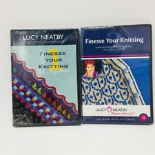 Lucy Neatby Finesse Your Knitting 1 2 DVDs Set The Learning with Lucy Series NEW