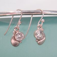 "1/2"" Dainty Crystal Quartz Handmade 925 Sterling Silver Drop Earring"
