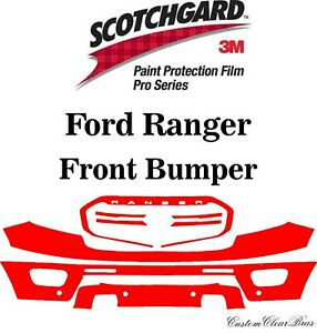 3M Scotchgard Paint Protection Film Pro Series Clear 2019 2020 2021 Ford Ranger