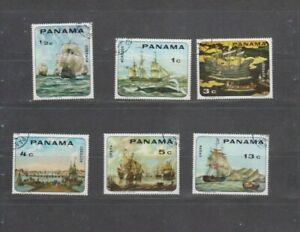 PC 125 _ Panama. Nice set of cancelled stamps.