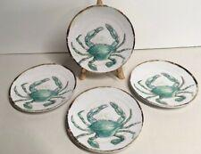 "New listing Tommy Bahama Salad Desert Plates 6"" Coastal Crab Melamine Turquoise Ocean New"