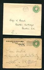 Briefmarken Australien Victoria 1903 Post Karte Halbmond Bay Frankierte 3 Half Penny Australien