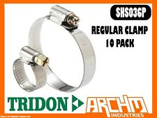 TRIDON SHS036P - REGULAR CLAMP HOSE 10 PACK 46MM-70MM SOLID BAND PART STAINLESS