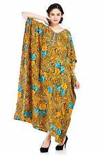 Kaftan Long Plus Size Animal Print Caftan Cover Up Dress Maxi Gown Dress