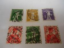Lot of 6 Antique Official Switzerland 1908-1909 Stamps Make an Offer