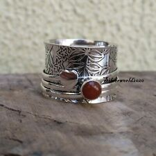 Carnelian Spinner Ring 925 Sterling Silver Overly Handmade Ring Size 11 zz418