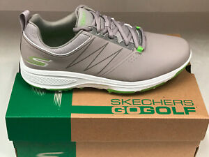 NEW SKECHERS GO GOLF TORQUE 54541GYLM GOLF SHOES GREY/LIME 8.5M